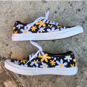 1d05042cbe Vans Shoes - Van Doren yellow daisy vans